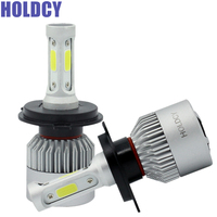 HoldCY H4 9003 Hi Lo Beam COB LED Headlight 72W 8000LM All In One Car LED
