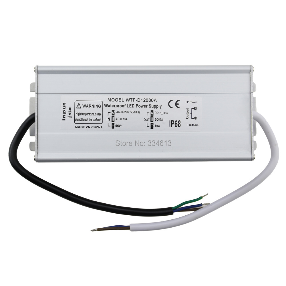 80W DC12V Electronic LED Driver Constant Voltage Power Supply IP68 Waterproof Transformer waterproof 12v 350w constant voltage power adapter power supply for led lights led electronic transformer power supply driver