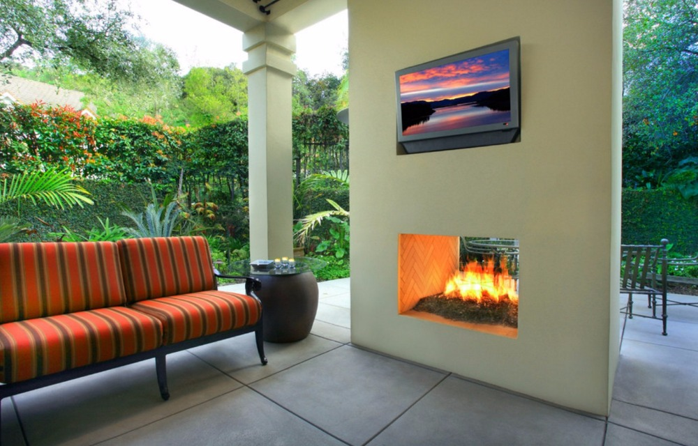On Sale 48'' Fireplace Outdoor With Biofuel Ethanol Burner