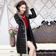 Fur coat Genuine leather Down coat Deadpool costume Mink sweater collar Sheep skin 2017 high quality clothes BH050