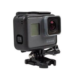 Image 4 - Koruyucu çerçeve kılıf standart açık kabuk + uzun vida + taban montaj GoPro Hero 5 siyah