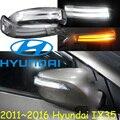 car-styling,Tucson IX35 Mirror light,2010~2016,Free ship!2pcs,IX35 mirror light;car-covers,chrome,IX35 turn light; IX45,IX 35