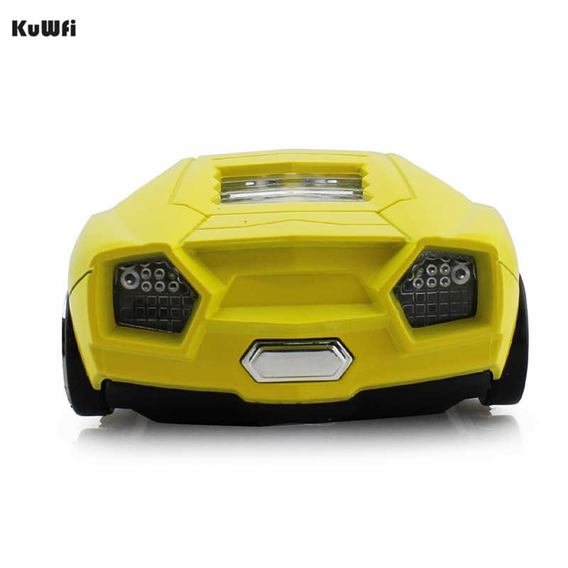 Souris d'ordinateur sans fil en forme de voiture souris d'ordinateur 1600DPI 2.4Ghz USB souris d'ordinateur optique avec LED lumière clignotante pour ordinateur portable Gamer
