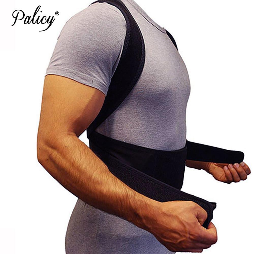 95de00579 Palicy Back Posture Corrector Shoulder Lumbar Brace for Men Body Shaper  Spine Support Belt Adjustable Adult