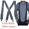 Free shipping Men large  size  xl Clip-on Braces Elastic 3.5cm Wide  black Suspenders/gallus 3.5*120cm Wholesale & Retail
