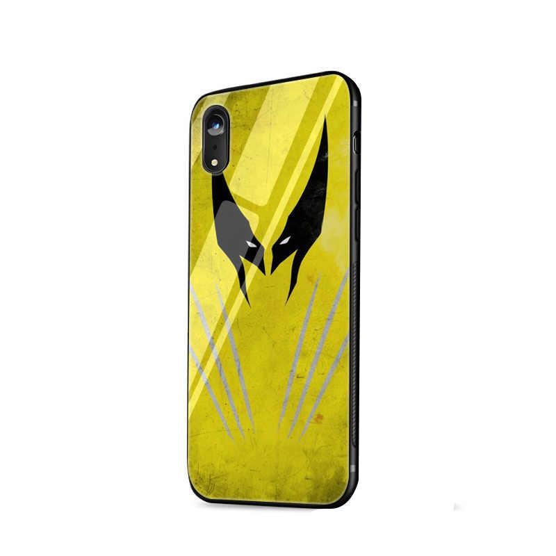 Wolverine Desxz 5S SE 6 6 Vidro Temperado Case para iPhone 5 s 7 8 Plus X XS Max XR cobrir