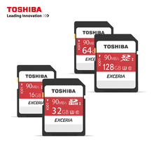 100% Original TOSHIBA N302 SD Card 128GB 64GB 32GB 16GB Class 10 SDXC SDHC Memory Card C10 90MB/s Support Official Verification