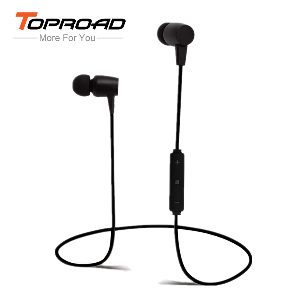 toproad wireless earphone bluetooth headset with mic in ear sport headphones deep bass sound. Black Bedroom Furniture Sets. Home Design Ideas