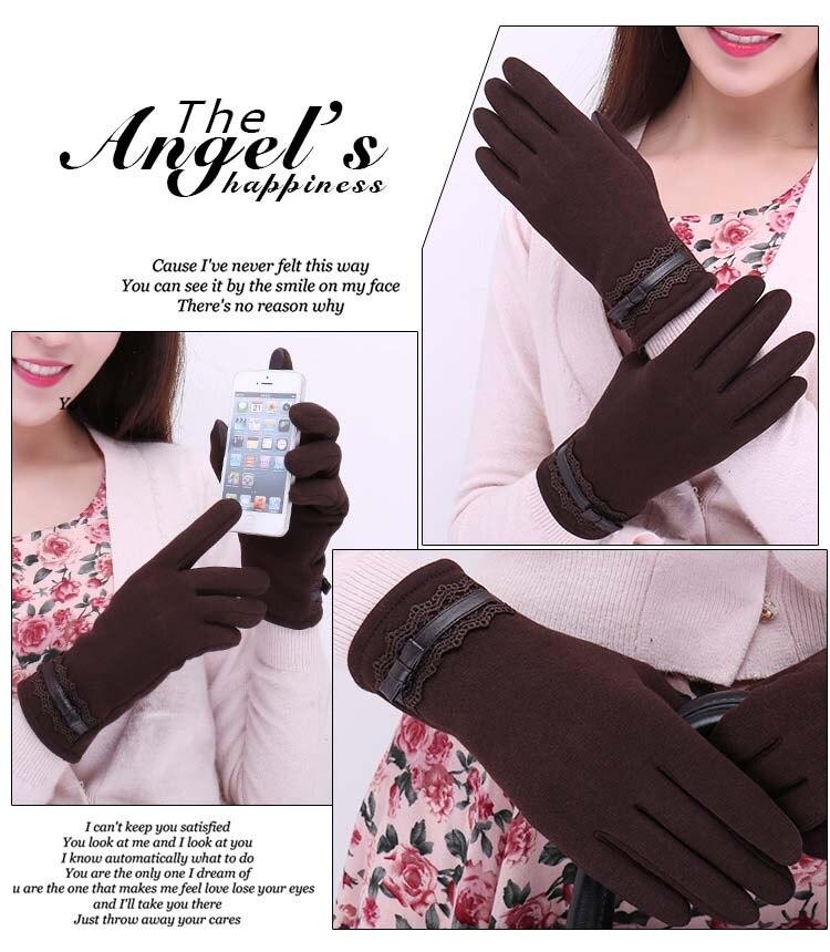 GLV1000 B Women touch screen winter fleece font b gloves b font Cycling driving outdoor sports