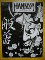 "New! Japanese Flash Book 11.5"" Hannya mask tattoo design reference from Yuelong Supply"