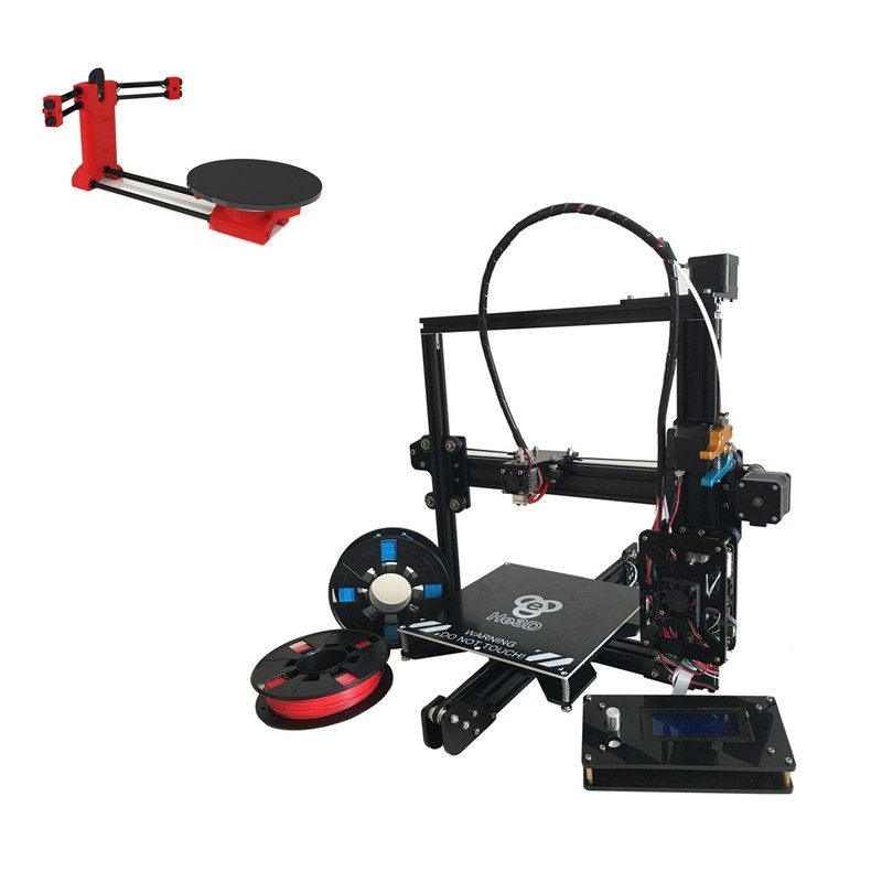 set sale,auto level Prusa I3 HE3D EI3 single E3D extruder 3D printer DIY kit,adding Red cilop open source 3d scanner DIY Kit