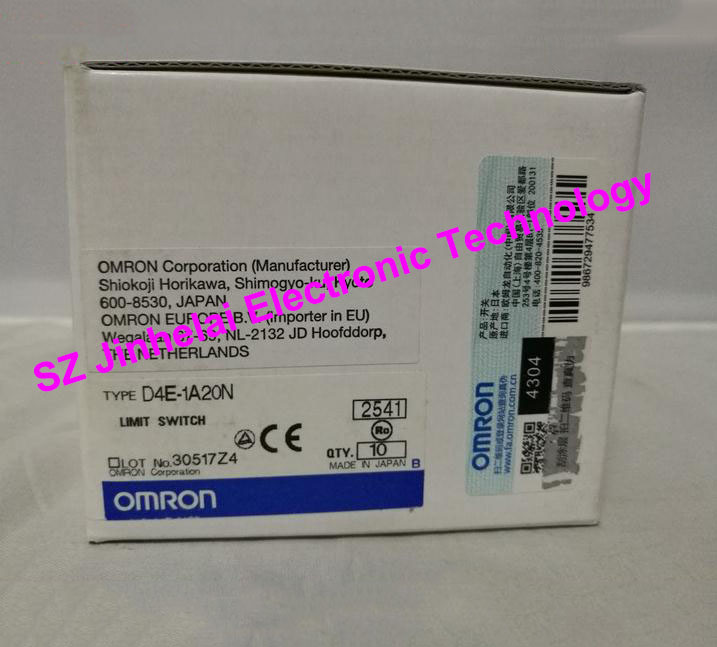 New and original OMRON LIMIT SWITCH D4E-1A20N [zob] 100% brand new original authentic omron omron limit switch factory direct wlca2 55le
