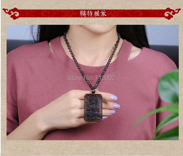 Real ice obsidian Buddha Amulet Acalanatha Pendant Bead Necklace TALISMAN For Cock year person-in Party Favors from Home & Garden    3