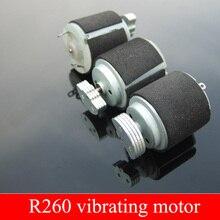 5 шт. H1 черный 260 Вибрационный двигатель сильная вибрация динамический круг R260 миниатюрный двигатель вибрации постоянного тока 3-6 в массажер