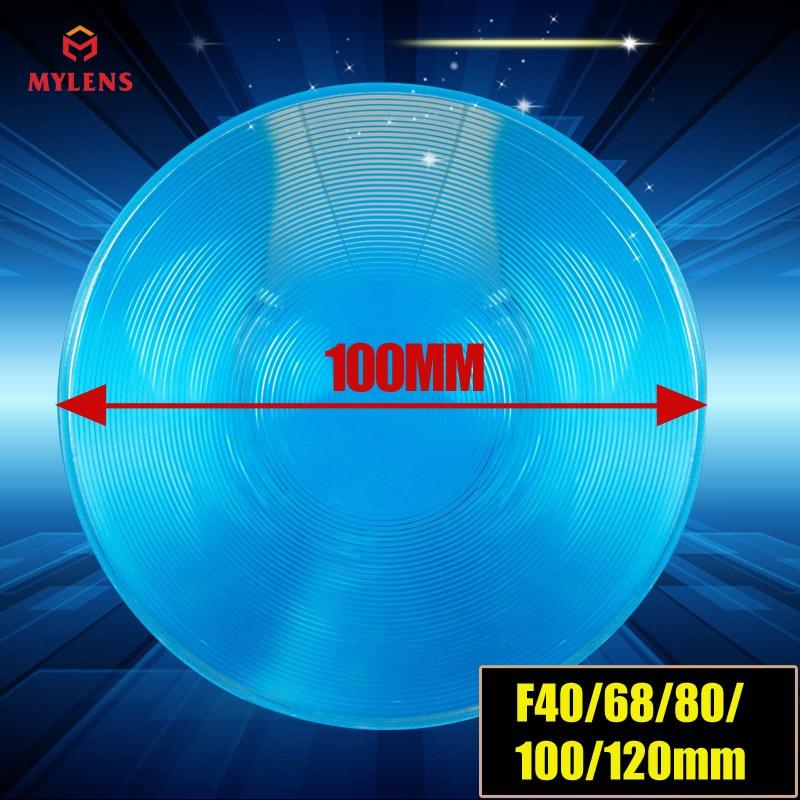Плоский светодиодный светильник Френеля размером 100 мм и фокусом 80 мм