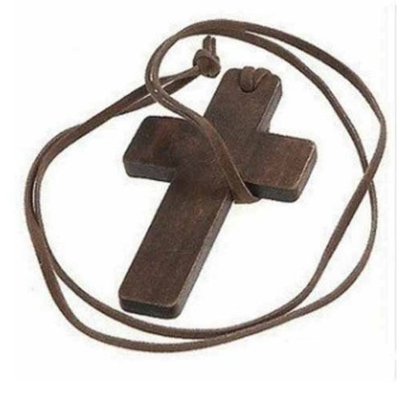 2016 New Arrival Wholesale Jewelry High Quality Wood Cross Shape Necklaces & Pendants X4