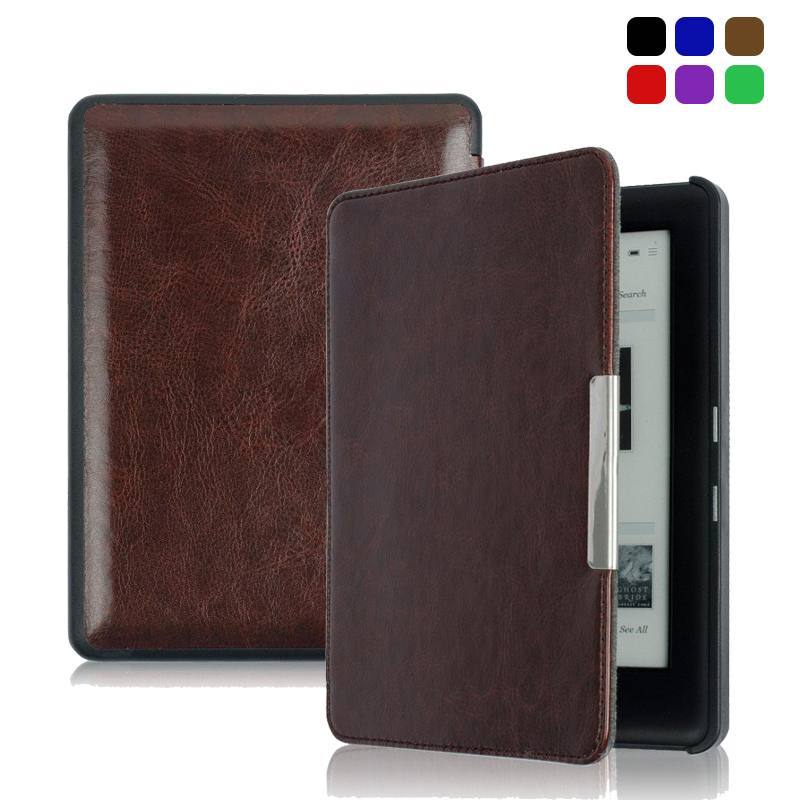High Quality PU Magnetic Funda For Kobo Glo HD Case Auto Sleep Slim Cover Case Hard Shell For KOBO GLO HD e-book reader 6.0inch