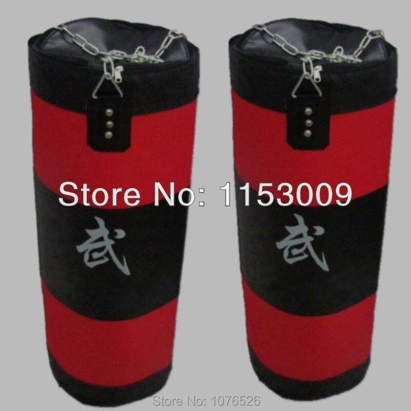 Nouveau 80 cm entraînement Fitness MMA sac de boxe crochet suspendu coup de pied MMA sac de combat sable poinçon sac de sable (vide) livraison gratuite