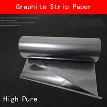 2pcs Graphite Strip Paper Thin Sheet High Pure Carbon Industrial Grade Flexible Strips Purity Mould