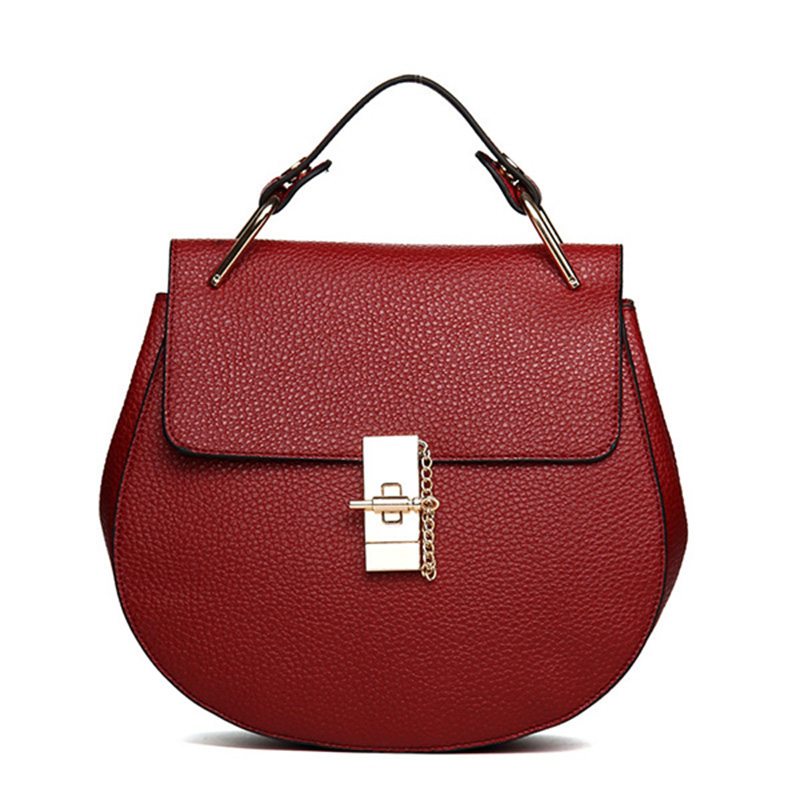Brand Designer Chain Piggy Bags Fashion Grained Women Handbags Artificial Leather Ladies Shoulder Bags Elegant Party Lock Totes in Shoulder Bags from Luggage Bags