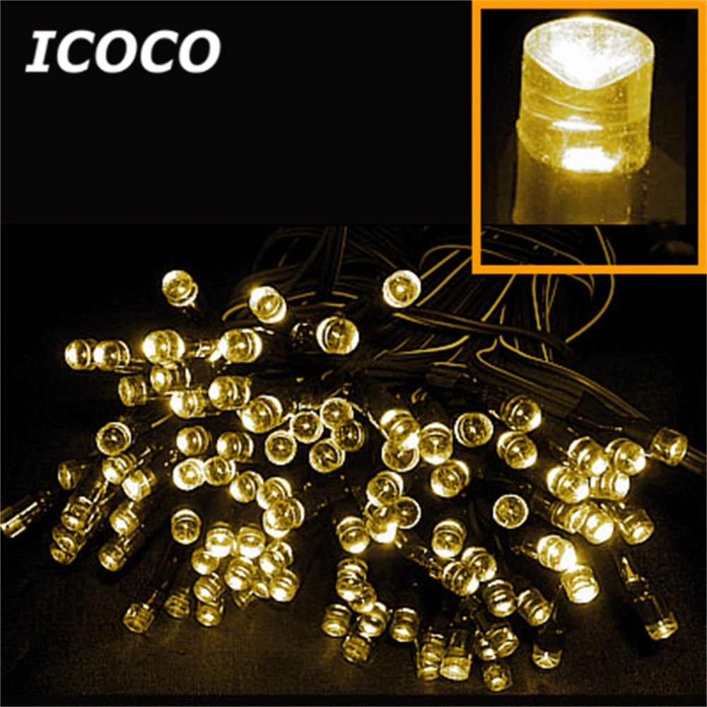 ICOCO 1PCS 100/200 LED White String Solar Fairy Lights For Outdoor Garden Wedding Festival Party Home/Outdoor Decoration 22m 200 led solar strip light outdoor lighting solar led string fairy lights waterproof for wedding christmas party garden light