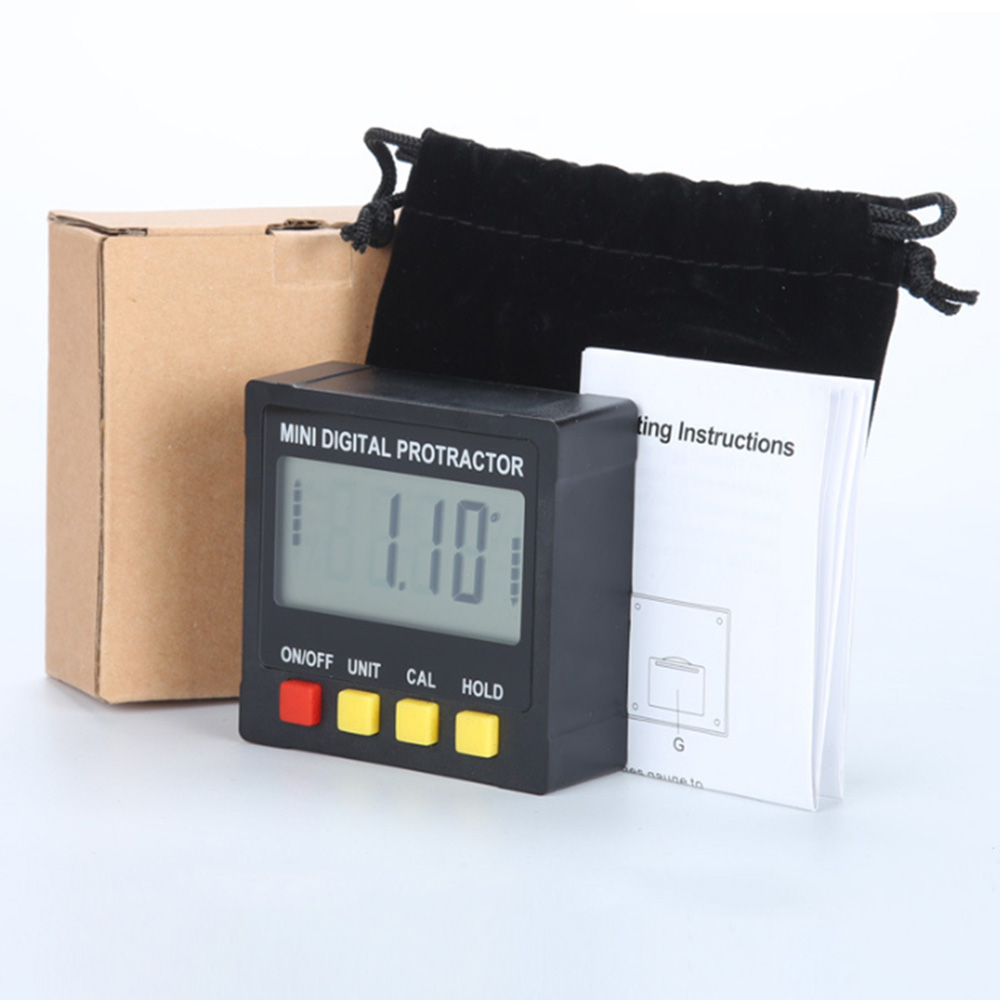 Image 4 - 360 Degree Mini Digital Inclinometer Level Electronic Protractor Angle Ruler Measurment Gauge Meter Finder with Magnet Hot Sale-in Protractors from Tools