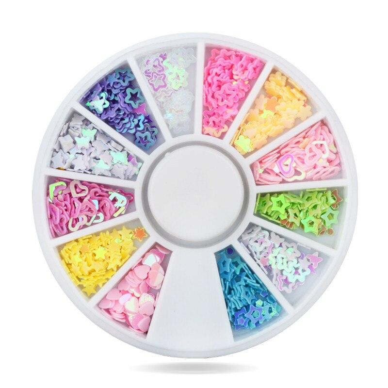 500 Teile/satz Mix Designs Acryl Uv Gel Nagel Dekorationen AnpassungsfäHig 3d Glitter Nail Art Pailletten Diy Maniküre Nagel Zubehör Reisen