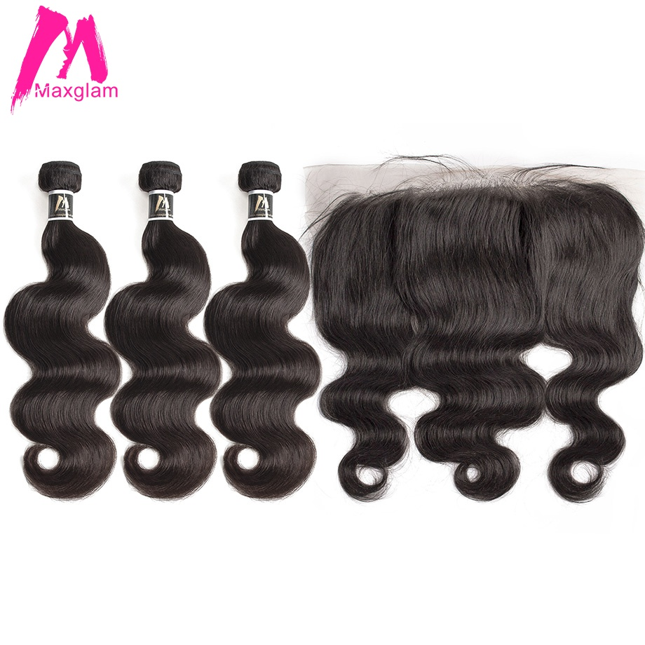 30 inch 40 inch bundles with frontal Closure Body Wave Virgin Remy Malaysian hair bundles with