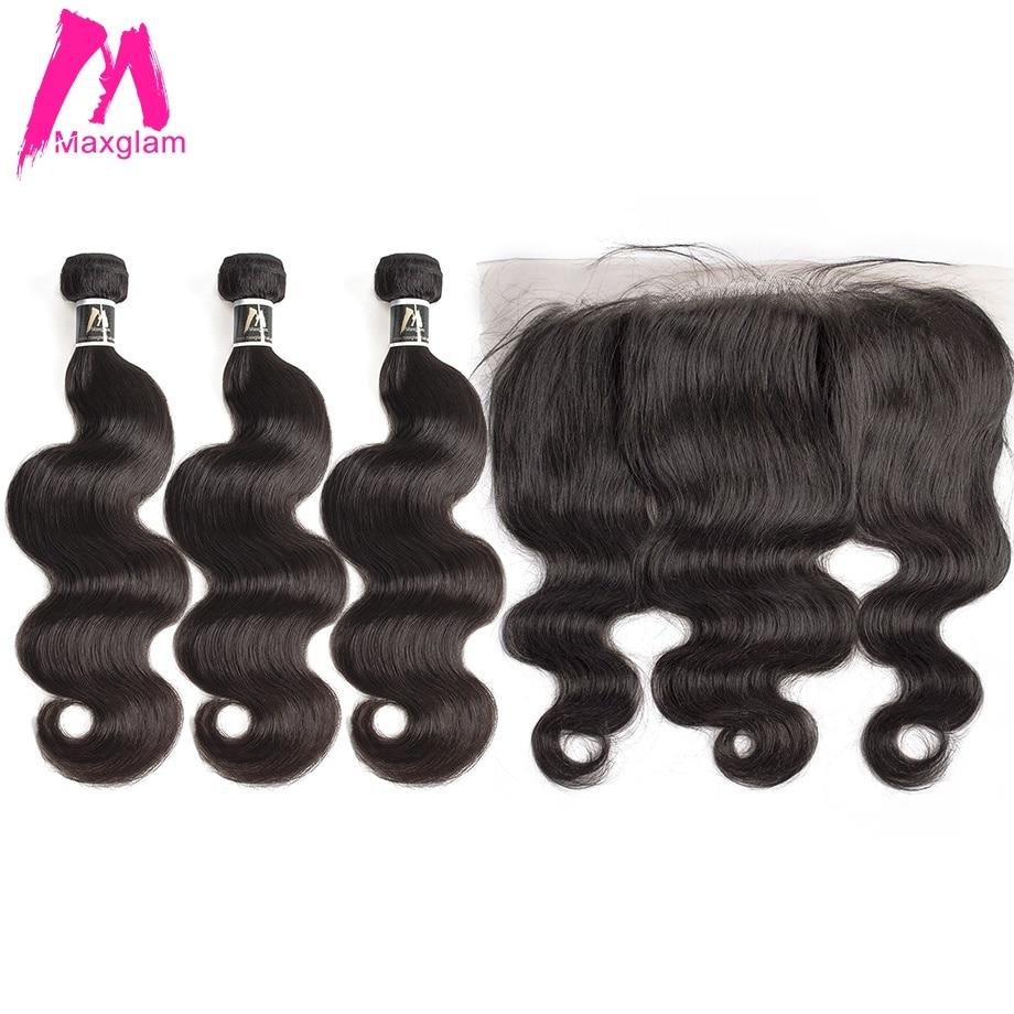 Body Wave Bundles With Frontal Remy Brazillian Hair Weave Bundles Preplucked Short Human Hair Extension 3 Bundles Black Women
