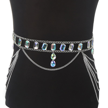 Rhinestone Body Harness Chain6