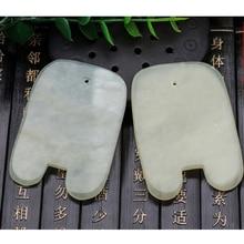 1Pcs Natural Jade Stone Guasha Gua Sha Board Comb Shape Massage Hand Massager Relaxation Comb