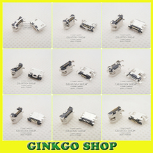 цена на 10Models,100pcs total Micro USB 5Pin  jack tail sockect, Micro usb connector port sockect for samsung Lenovo Huawei ZTE HTC ect