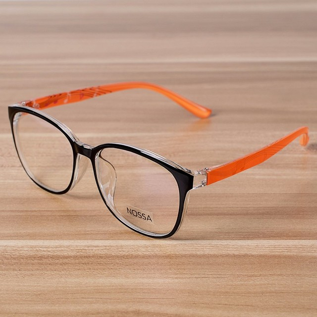 1be403d718 NOSSA Orange Clear Fashion Glasses Women   Men  s Myopia Glasses .
