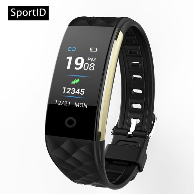 New Smart Bracelet Waterproof Heart Rate Monitor HD Color Display S2 Watch Men W