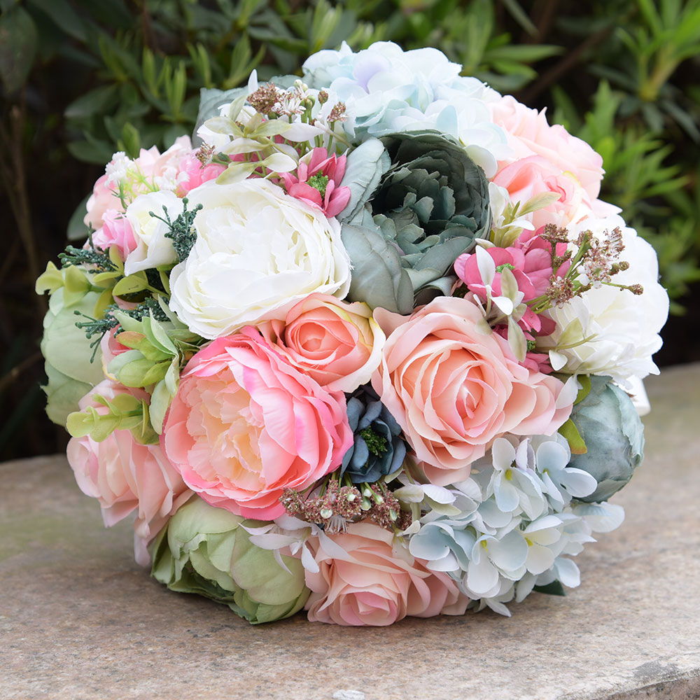 Bridal Bouquets Silk Flowers: Aliexpress.com : Buy The Faux Bouquet Silk Roses Wedding