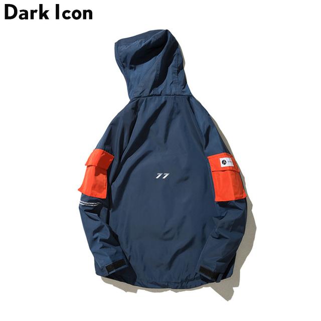 DARKICON Front Pocket Thin Style Casual Jackets Men 2017 Autumn Streetwear Mens Jackets Men Clothing