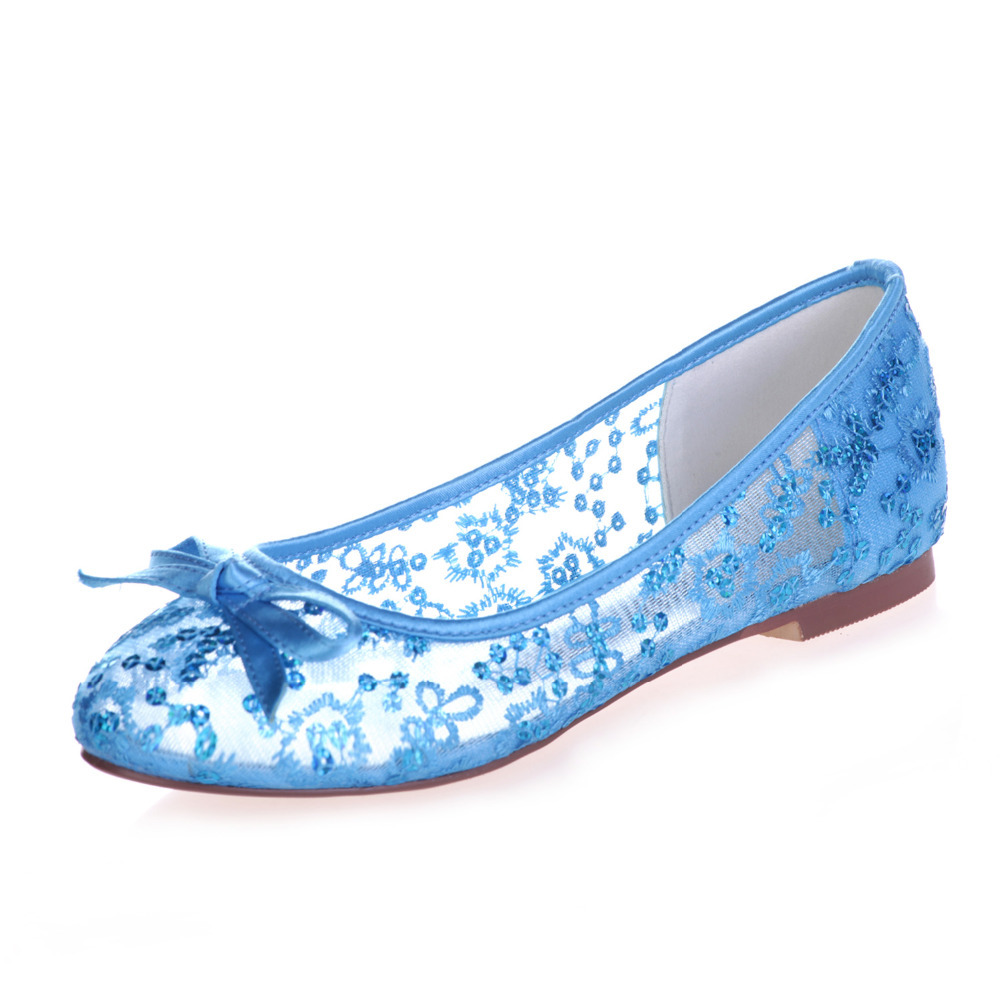 1111e3f3b556 Creativesugar see through lace ballet flats bling sequin summer style beach  wedding shoes sky blue hot pink red ivory white gold-in Women s Flats from  Shoes ...