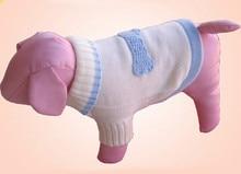 Free shipping pet dog puppy sweater bone cat kitten sweaters  blue white color xs s m l xl