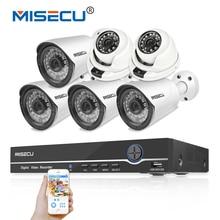 MISECU 8CH HD réel POE NVR KIT 1080 P 48 V 2MP 1080 P 25fps Bullet/dôme POE IR Caméra extérieure P2P nuage Surveillance Securitykit