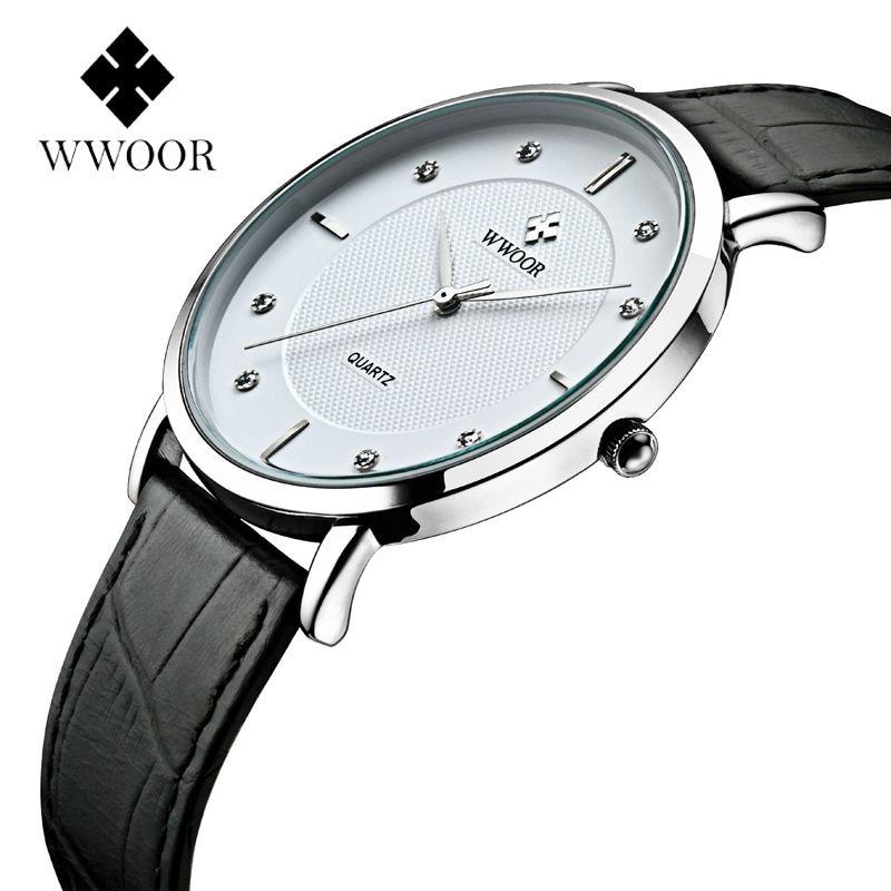 2016 Luxury Brand Mens Watches Ultra Thin Genuine Leather Clock Male Quartz Sport Watch Men Waterproof