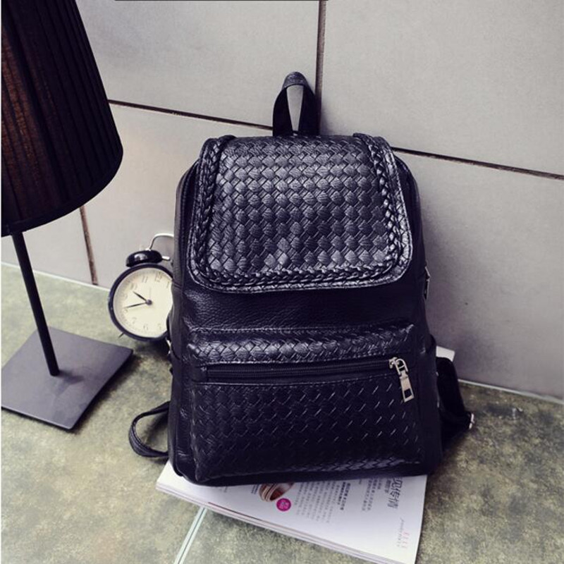 ФОТО Free Shipping Preppy Style High Quality Women Backpacks PU Packback Ladies Schoolbag For Teenage Girls Unique For School XZ-003