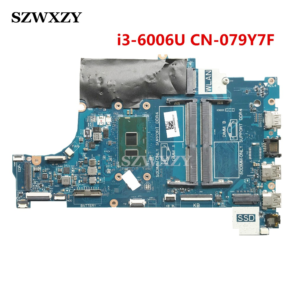 For Dell Inspiron 15 5570 Laptop Motherboard Cal60 La F114p Ddr4 Cn 079y7f 079y7f 79y7f Sr2uw I3 6006u Full Tested Laptop Motherboard Aliexpress