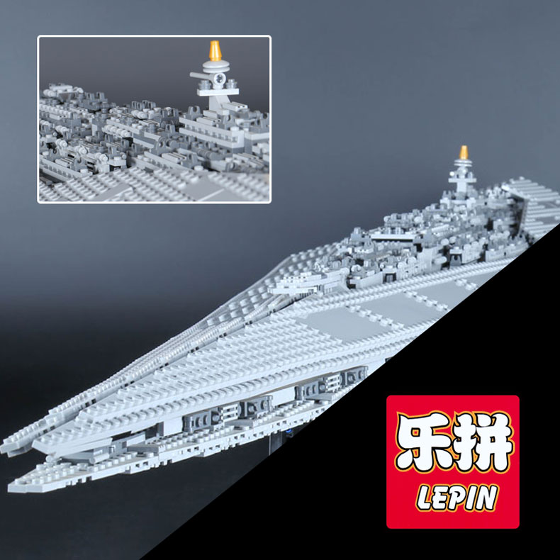 LEPIN 05028 Star Execytor Super Star set Destroyer Model Educational Building Kit Block Brick Compatible 10221 Boy War Toy Gifts 05028 star wars execytor super star destroyer model building kit mini block brick toy gift compatible 75055 tos lepin