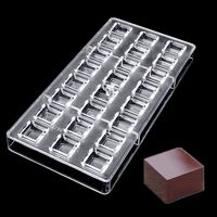 Chocolate Mold Polycarbonate 24 DIY 3D Plastic Clear Ice Jelly Candy Mould PC Cube Transparent Tray Baking Tool 275*135*22mm