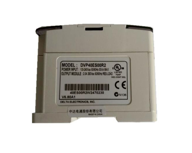 New Original DVP40ES00R2 PLC with100-240VAC 24DI 16DO relay output Standard new original dvp40eh00r3 delta plc eh3 series 100 240vac 24di 16do relay output