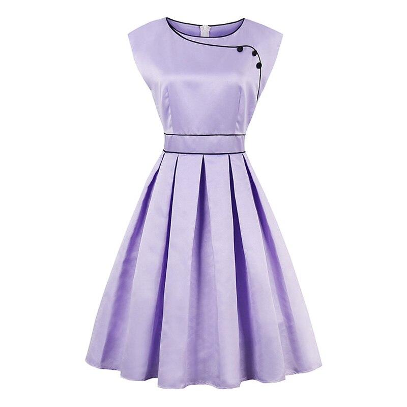 Sisjuly Summer 1950s Vintage Dresses Knee Length Women