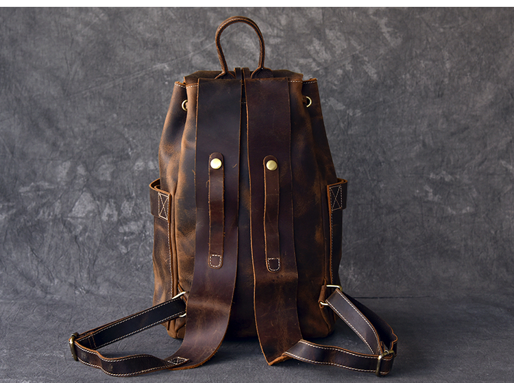 Kyia premium leather rucksack