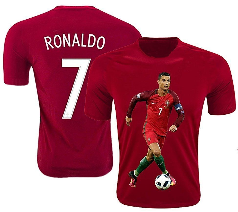 new styles 9333a 7040c US $13.28 5% OFF|Ronaldo Jersey Style T shirt Kids Cristiano Ronaldo Jersey  Portugal T shirt round neck-in T-Shirts from Men's Clothing on ...