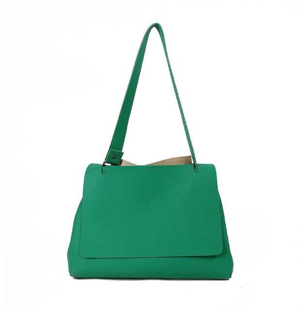 New fashion handbag han edition pure color one shoulder inclined bag, pearl pendant handbag