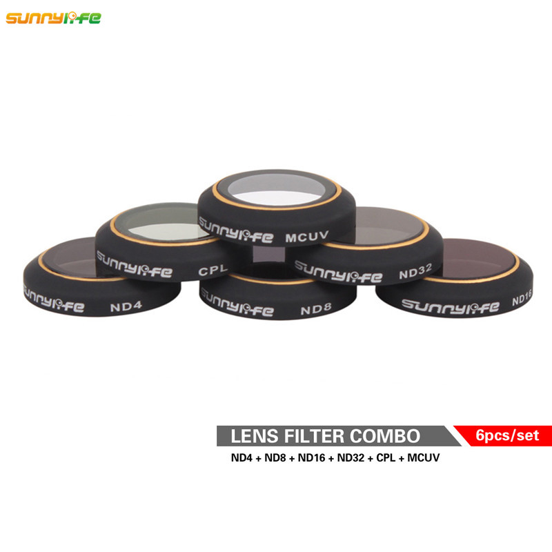 6pcs Mavic Pro DJI Drone Mavic Pro Ultra-thin Lens Filter High Transmittance ND4 8 16 ND32 CPL MCUV Filter HD Camera Lens Filter